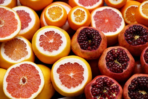 Blood Oranges with Pomegranate Molasses