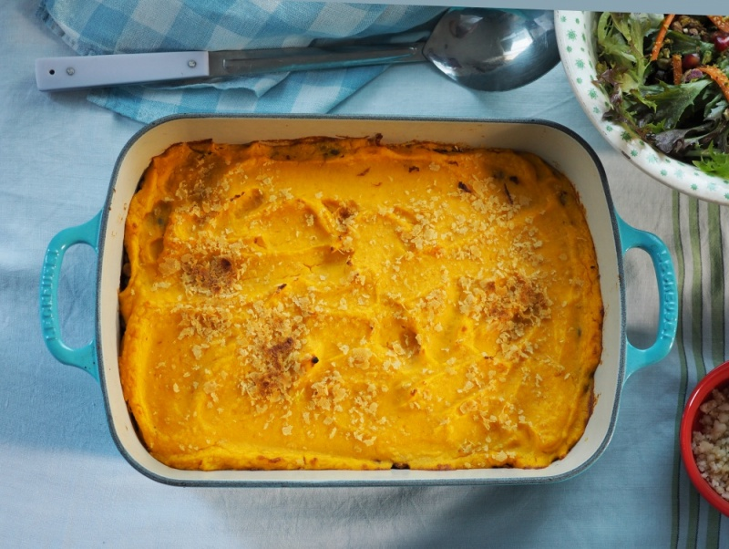 Sweet Potato and Lentil Cottage Pie